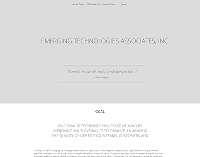 EMERGING TECHNOLOGIES ASSOCIATES - Redesign