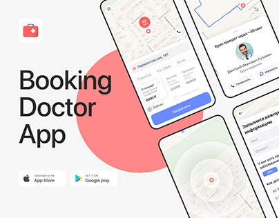 AlcoDoctor — Book a Doctor (mobile application) | UX/UI