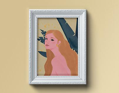 Greta - Illustrated Portrait