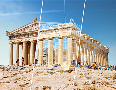 Ruins from Ancient world - reconstructed