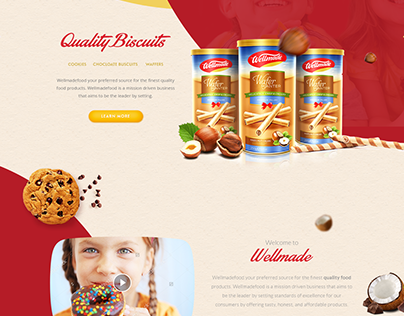 Webpage Design Concept for Food Company