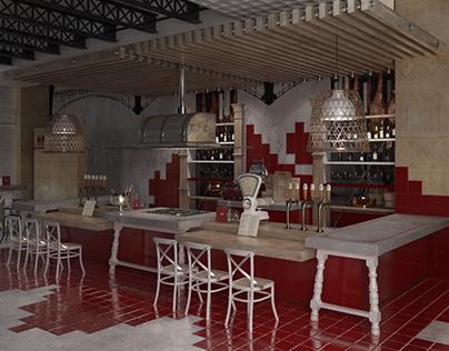 Cooking show restaurant