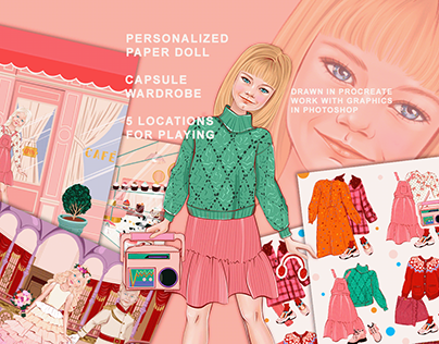 PERSONALIZED PAPER DOLL WITH TREND CAPSULE WARDROBE