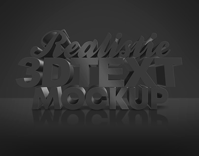 Dark 3D Text Effect (FREE DOWNLOAD)