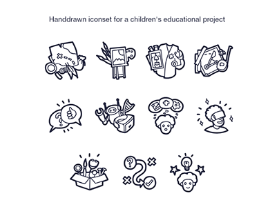 Iconset for a children's educational project