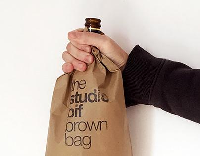 The studio bif brown paper bag