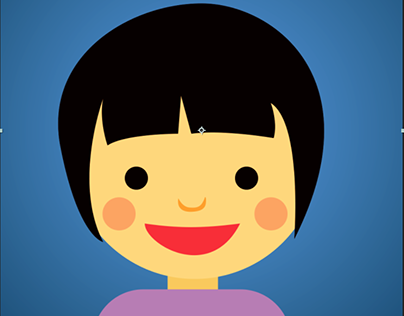 2D animation_Girl Face rotation Adobe After effect