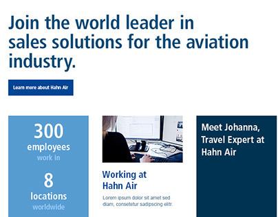 Hahn Air ˙ Career Section