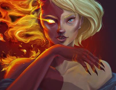 Illustration - Devil OC