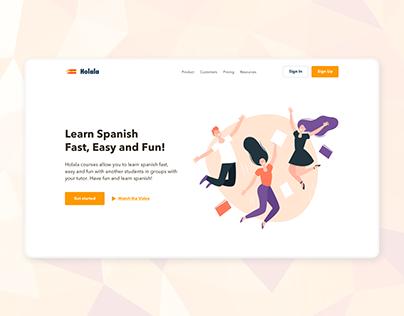 Holala Landing Page Design
