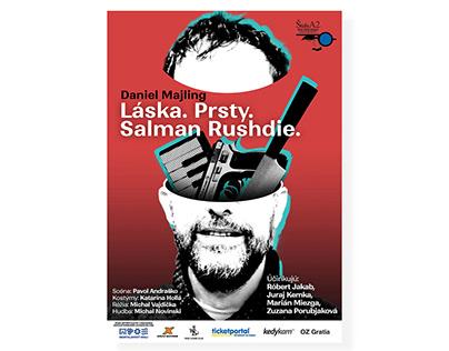 Láska. Prsty. Salman Rushdie. - poster, bulletin