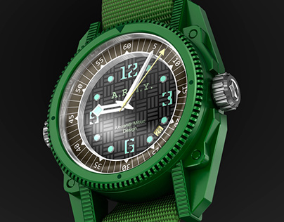 Military watch design concept