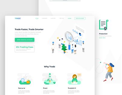 Digital currency trading platform landing page