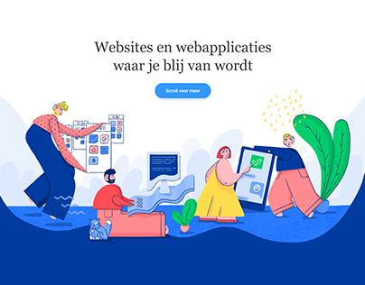 Website illustrations for Trendwerk