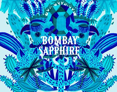 Bombay Sapphire Dry Gin Illustration