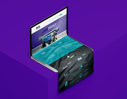 Advertising Company Website UI UX Design