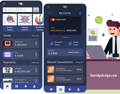 Finance Application Design Concept