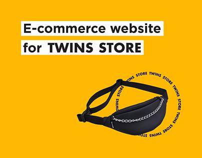 Twins Store e-commerce website