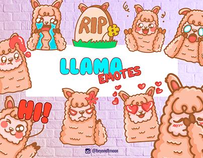 Llama Emotes for Twitch
