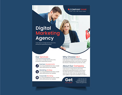 Digital Marketing Agency flyer design