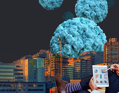 Custom made collage art for online magazine