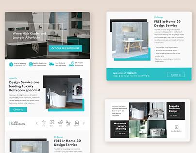 Web Design Concepts For Bathroom Accessories