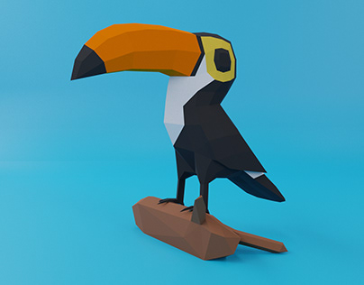 TOUCAN BIRD PAPERCRAFT