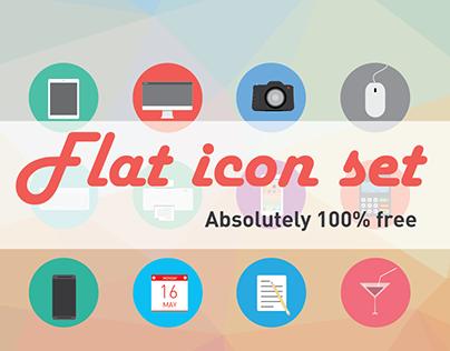 20 free flat icons