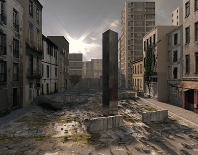 THE MONOLITH IN POST APOCALYPTIC WORLD