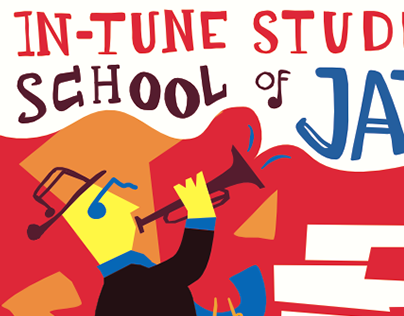 Jazz School Illustrated Poster