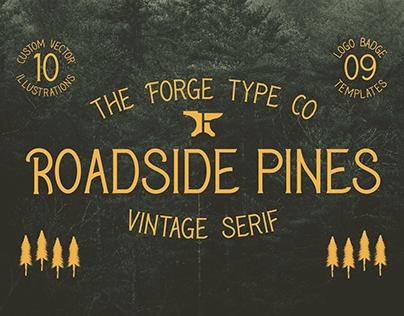 Roadside Pines - Vintage Serif