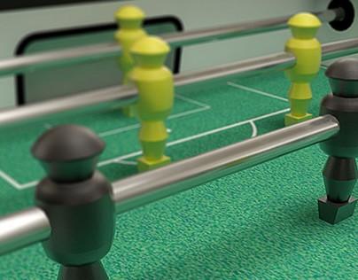 Modelado y texturizado 3D - Futbolín