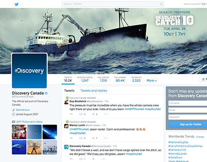 Discovery Social Headers