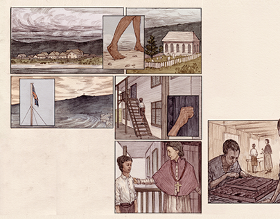 Fallen Leaves Short historical comic for young readers.