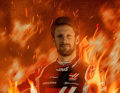 Homenagem Romain Grosjean