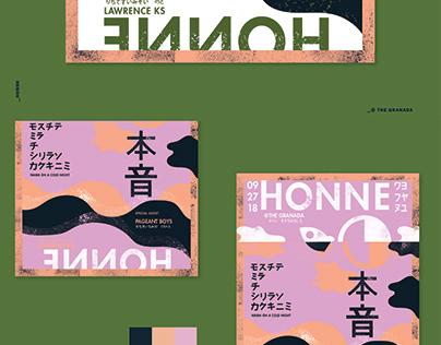 Honne - Gig Poster