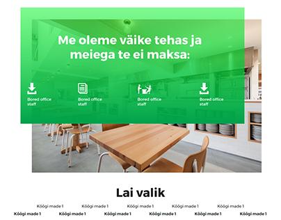 Kitchen furniture Service Web Design