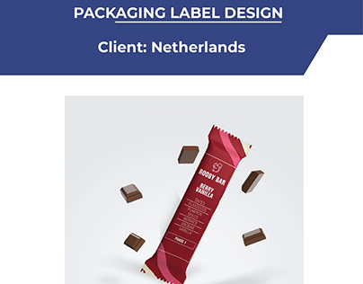 Chocolate Bar Packaging Label Design