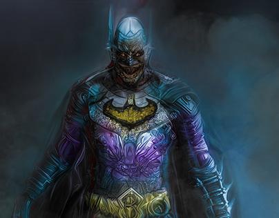 Batman and Robin Zombie GIF