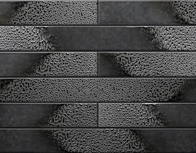 Enameled brick slips