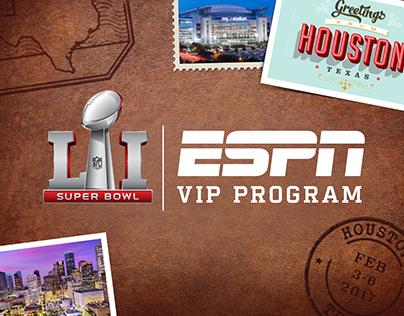 ESPN Super Bowl VIP Program Creative