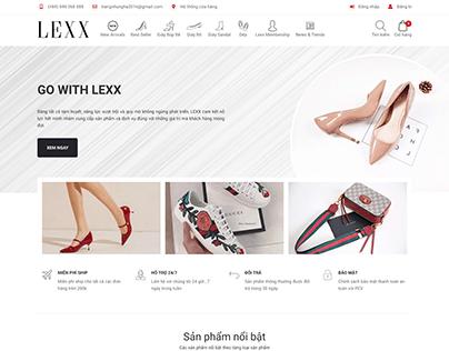 Project website LEXX FASHION