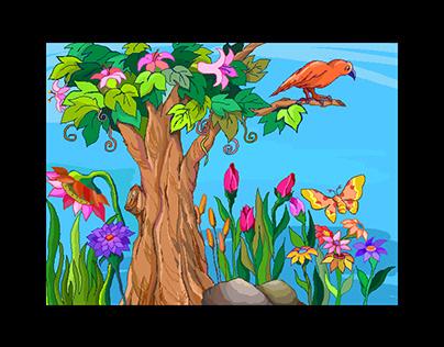 Children's Story book sample illustrations
