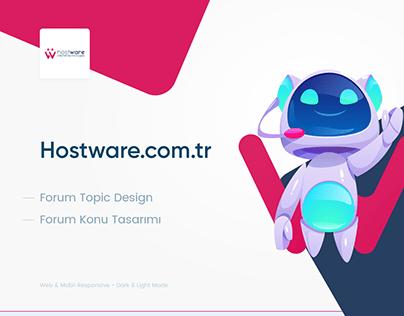 Hostware Topic Design