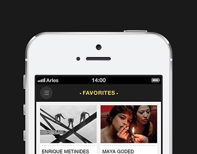 Arles Festival, App Concept
