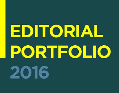 Editorial Design Portfolio 2016