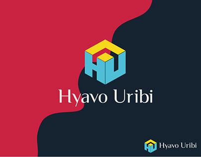 Hyavo Uribi logo, HU modern logo, HU logo branding, HU