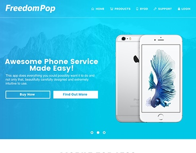 FreedomPop Landing Page Re-design