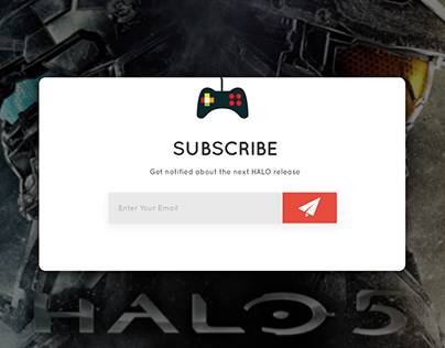 #DailyUi 026 - Subscribe