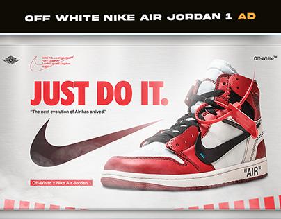 Off White Nike Air Jordan 1 Ad